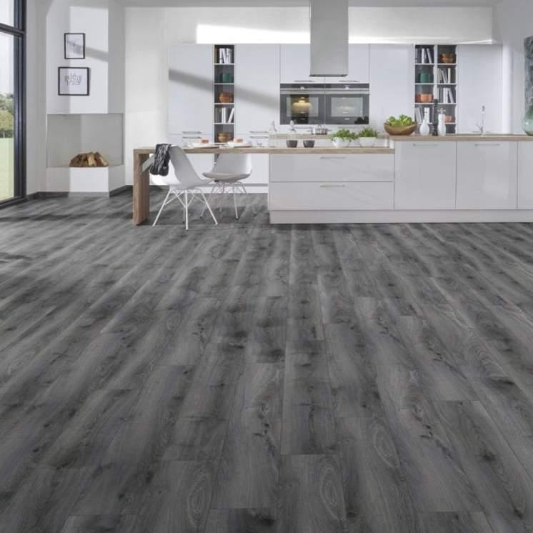 Tomahawk Dark Grey 12mm Laminate, Dark Gray Laminate Flooring